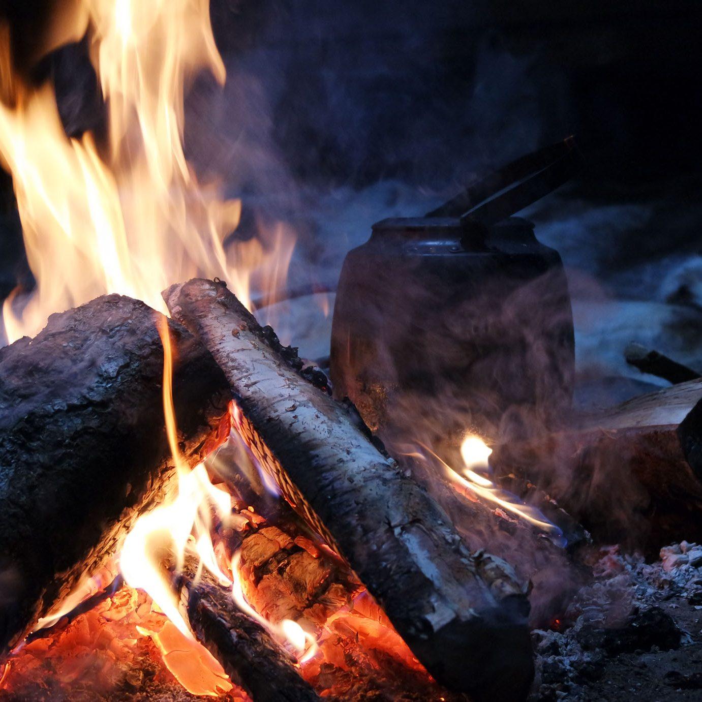 feu de camps laponie
